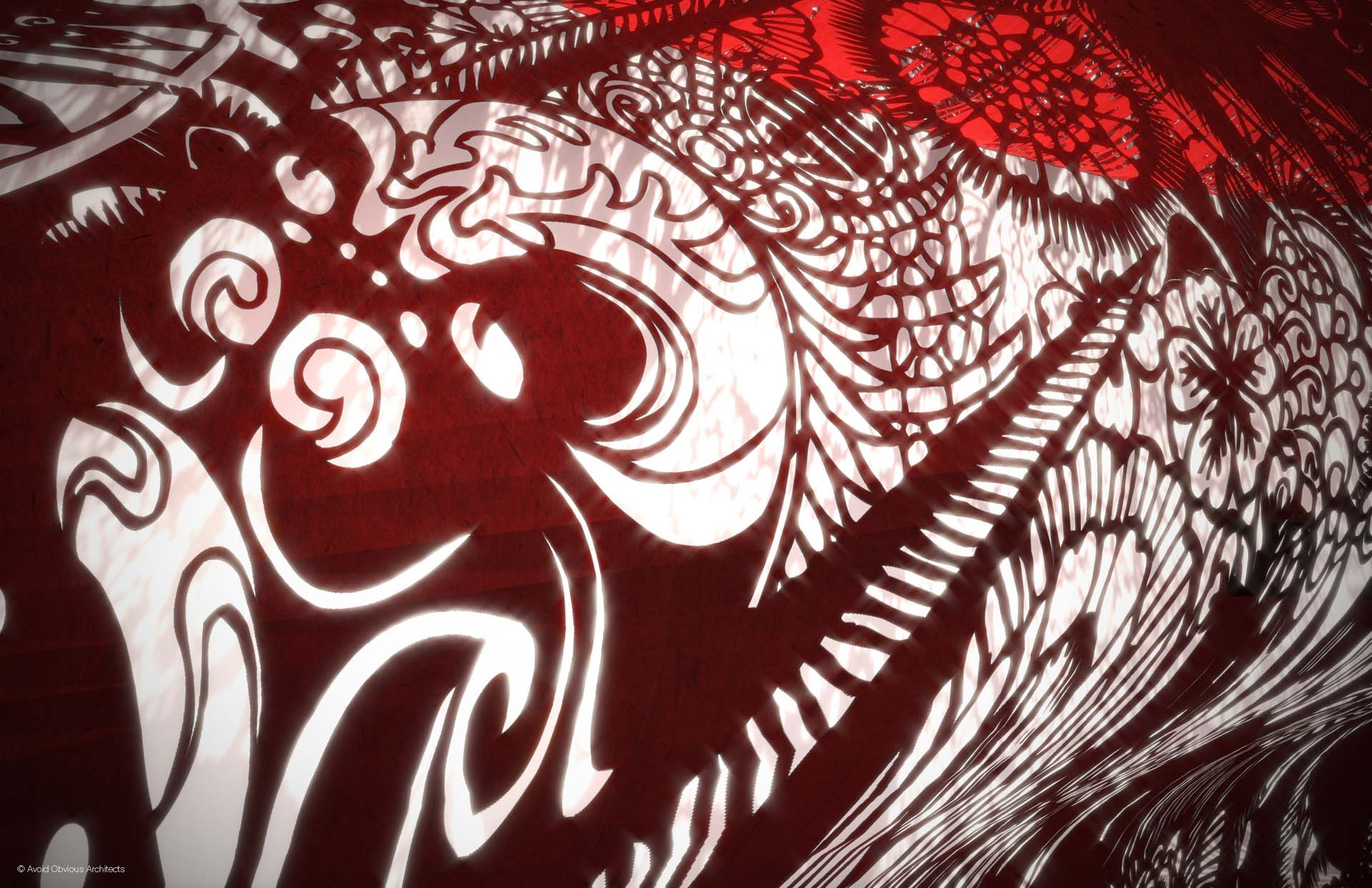 Chinese art, chinese mask, paper cutting, wall art, corridor art, chinese art installaton, opera masks, chinese masks, paper cutting, traditional chinese art
