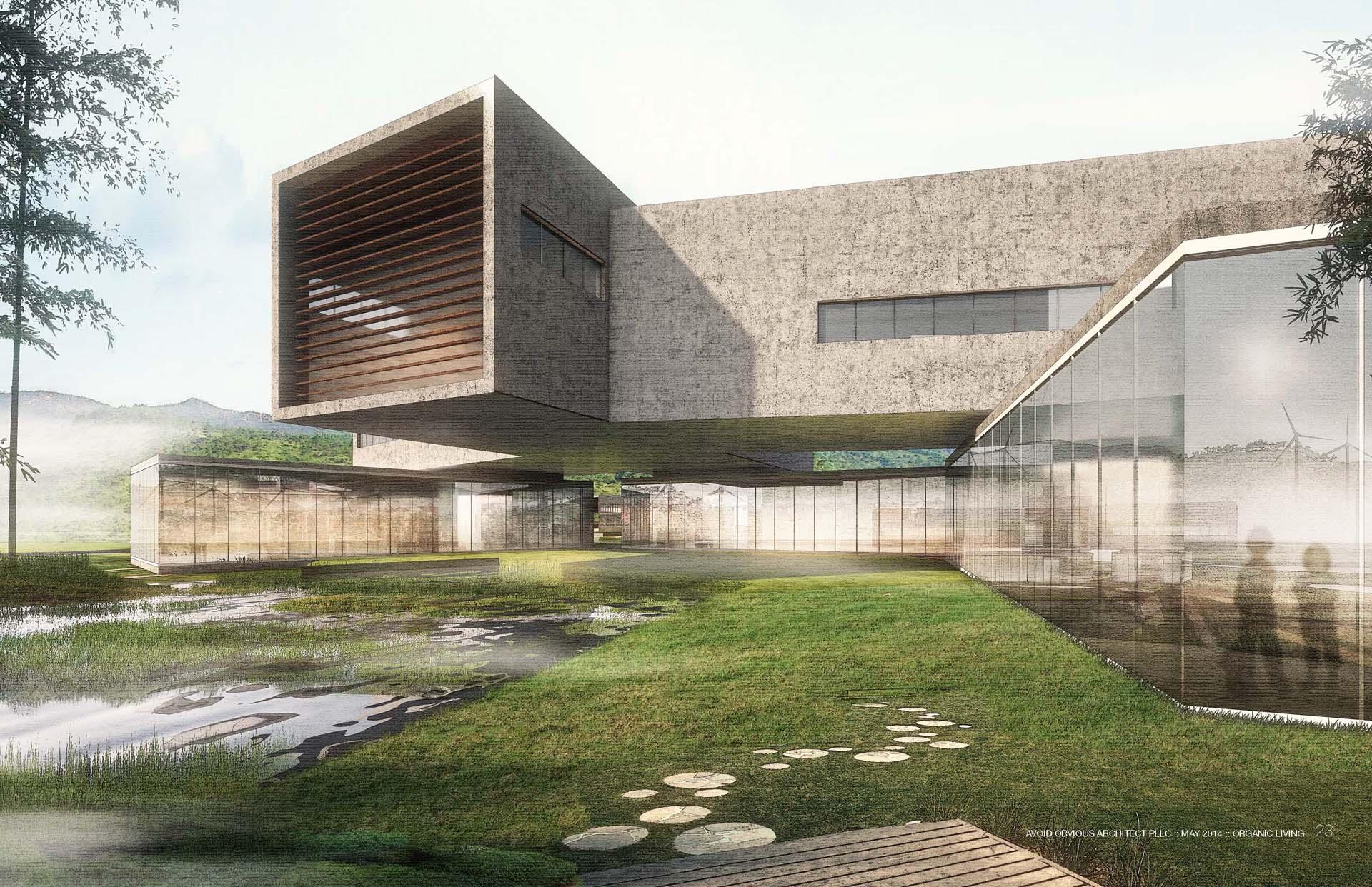 Residential, Villa, organic, architecture, farm, house, green living