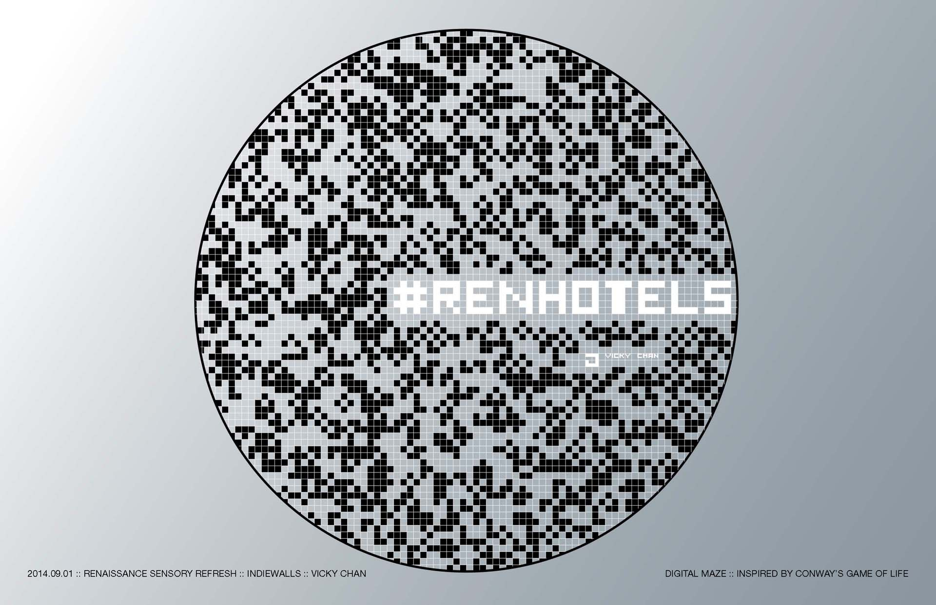 renhotels, renaissance hotel, branding, art, typography, architecture, print, 3d type, wireframe, vicky chan, architecture