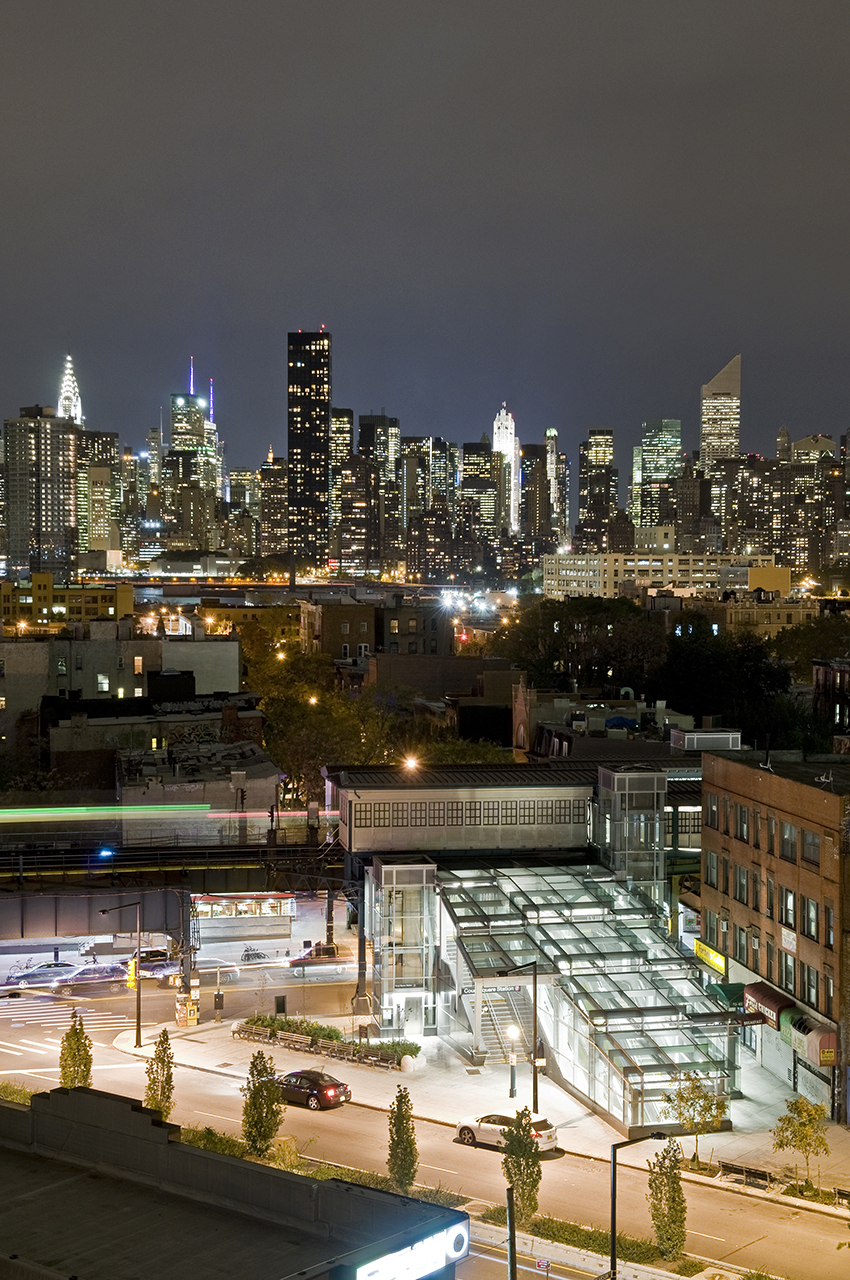 Long Island City, New York, Skyline, MTA, trains, Queens, Court Square, 7 Train Station, LIC