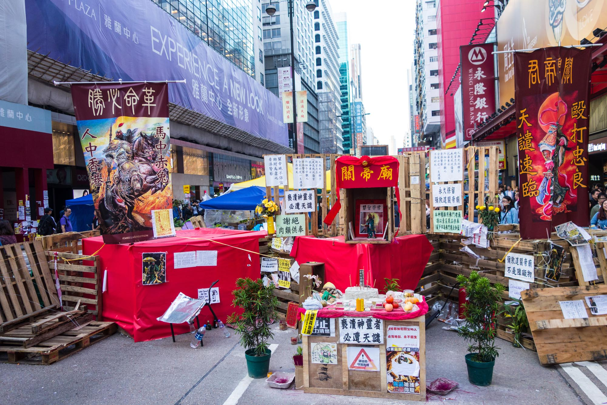 Urban Planning, Architecture without Architect, Mong Kok, tents, street art
