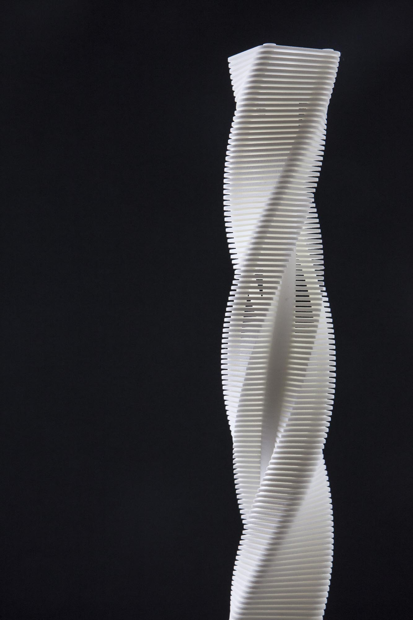Wind, Urban Design, Architecture, Mixed use, Tower, Mall, Commerical, Retail, Twisted, Natural, Sustainable, Ventilation, 3d print