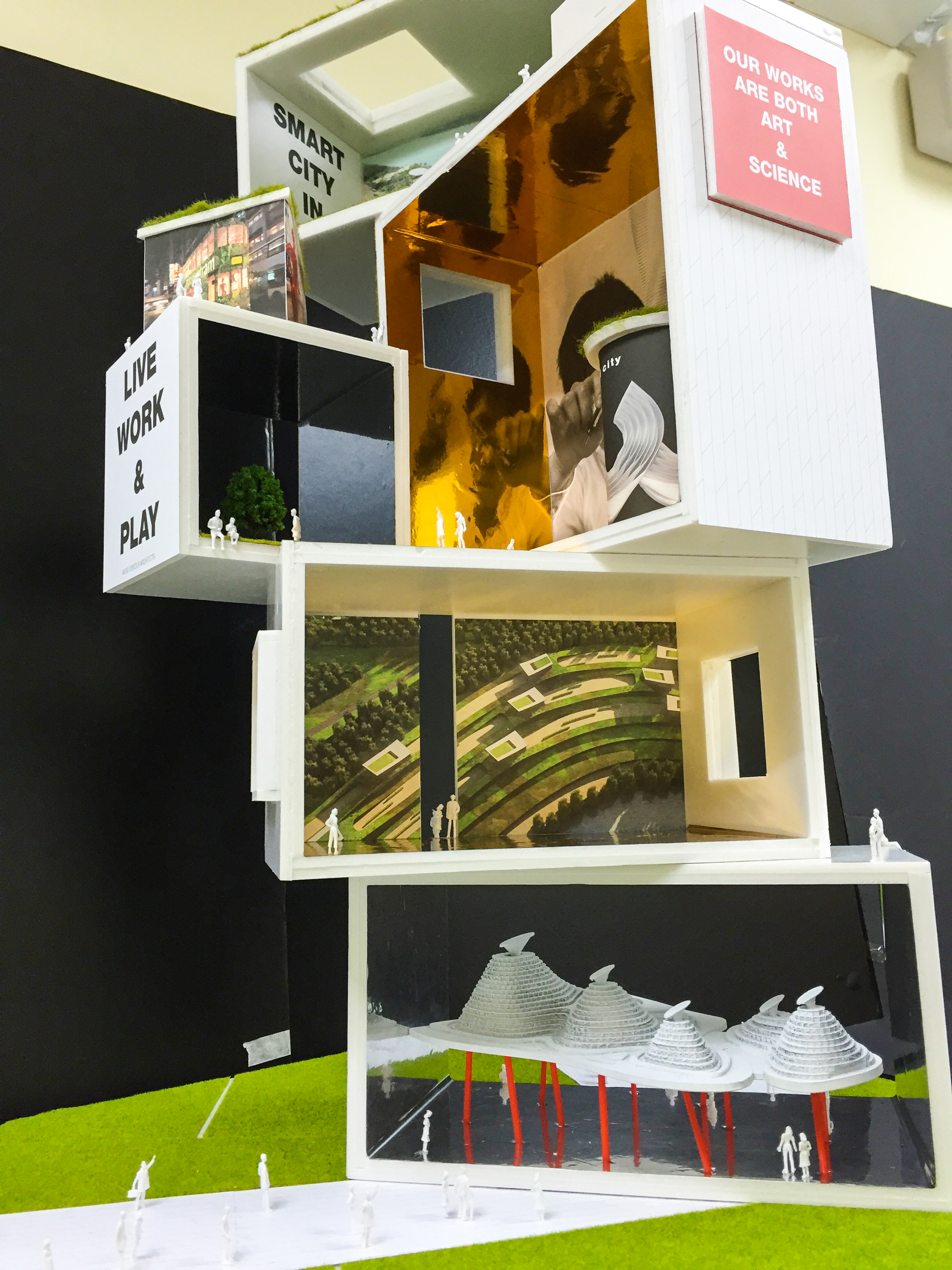 model making, avoid obvious, green, sustainable, architect, architecture, museum, recycled, green