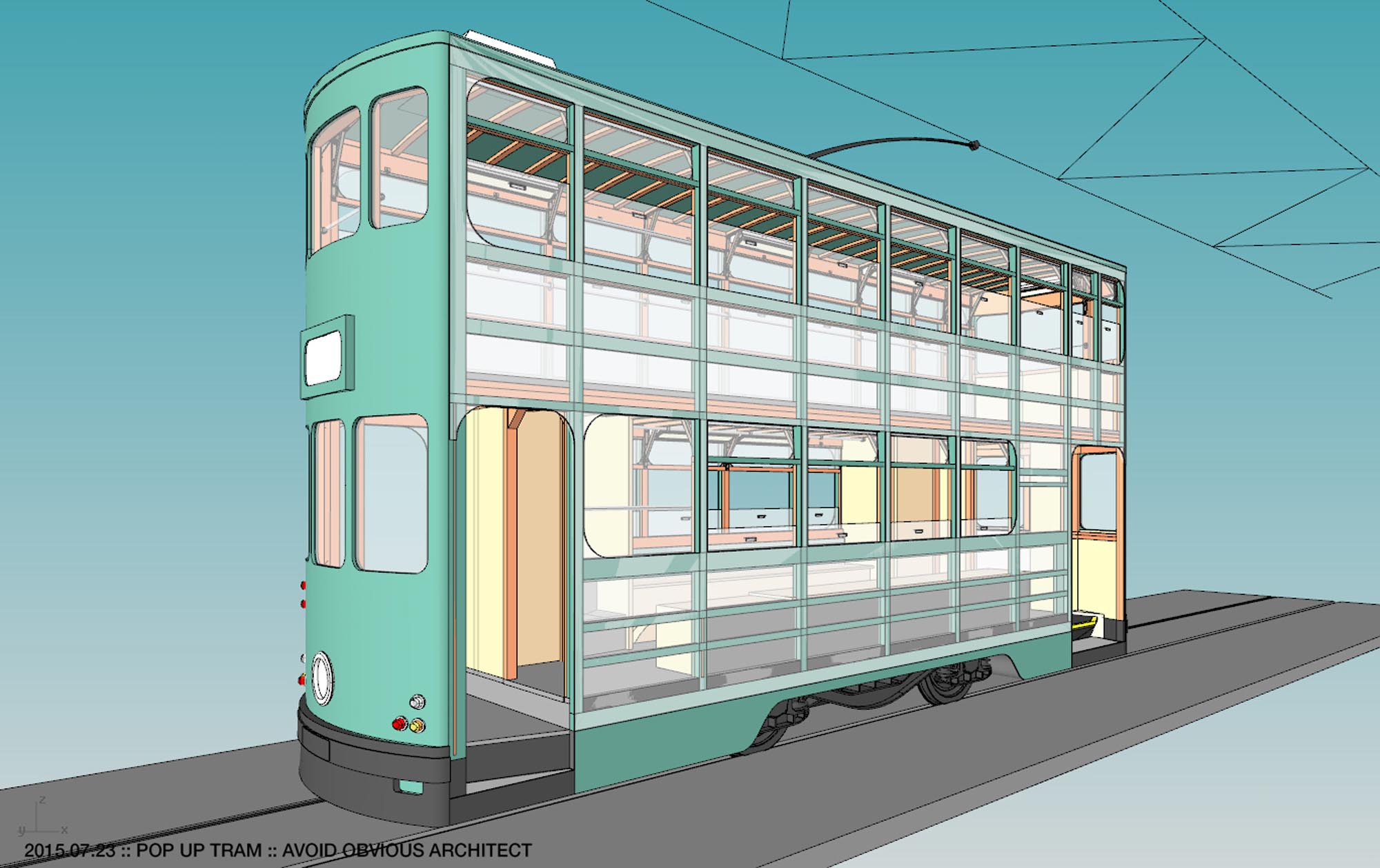 Tram Tramways Hong Kong Avoid Obvious Popup Pop Up Mobile