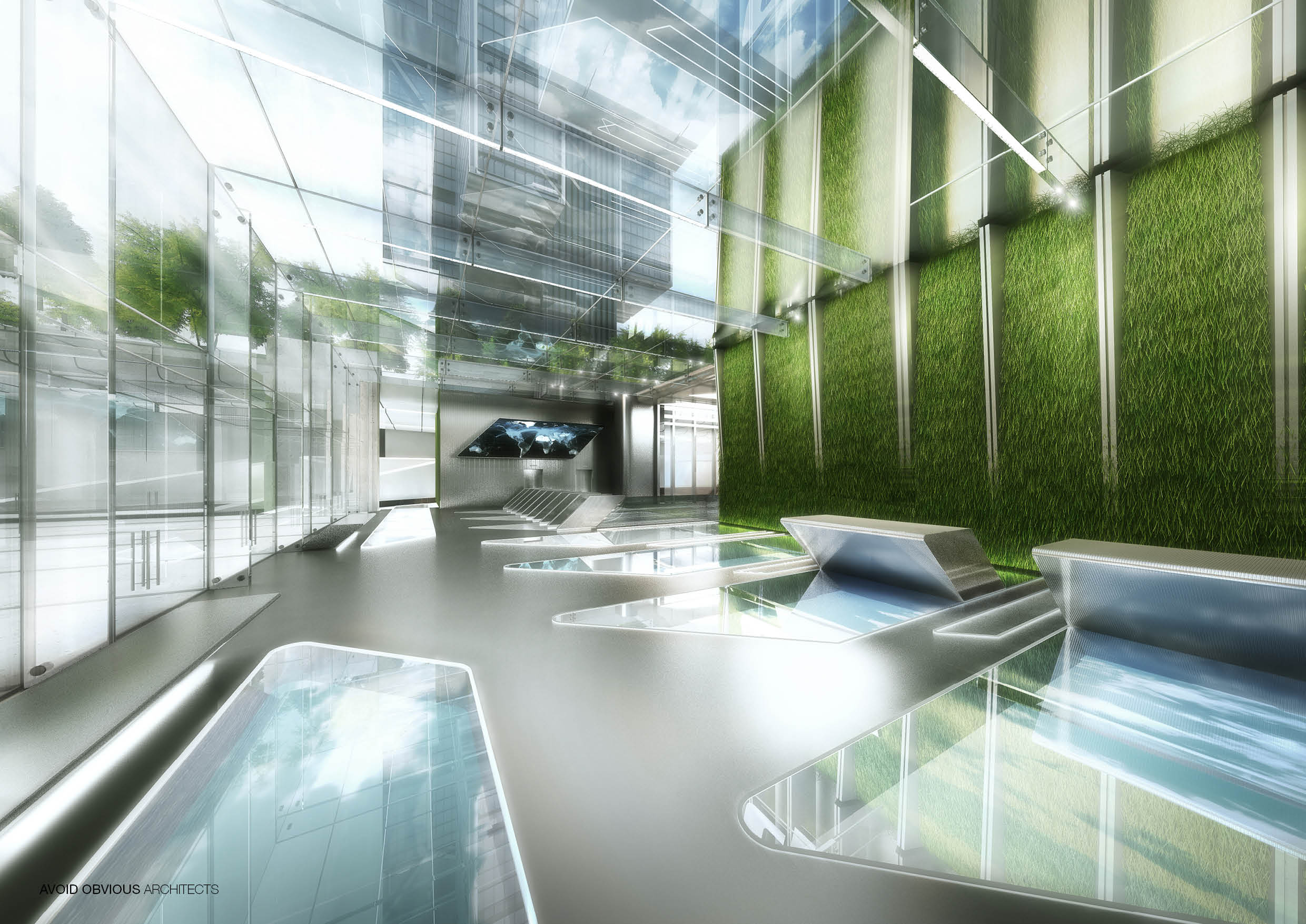 Office, Sustainable, customizable, flexible, workplace, future, architecture, interior, design, green, plants, indoors, avoid obvious, aoa, aoarchitect, aviation, air, flying, airline, lobby, exhibition, 2020, garden, fly