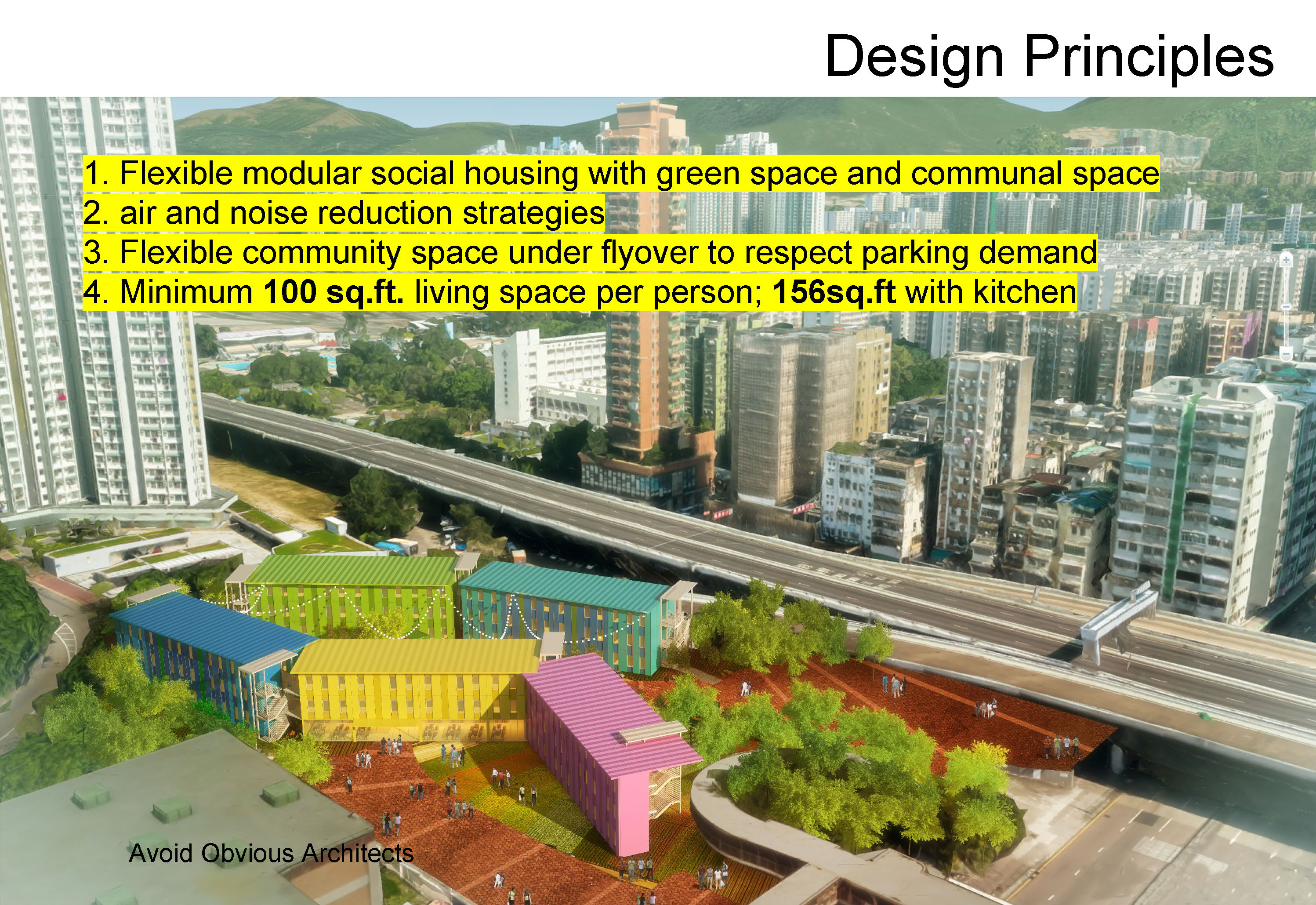 Homeless, coliving, sustainable, design, architects, AOA, vicky chan, Avoid Obvious, hong kong, modular, construction, movable, low budget, cheap, fast, easy, housing, afforable, better, living, crisis, solution, urban planning