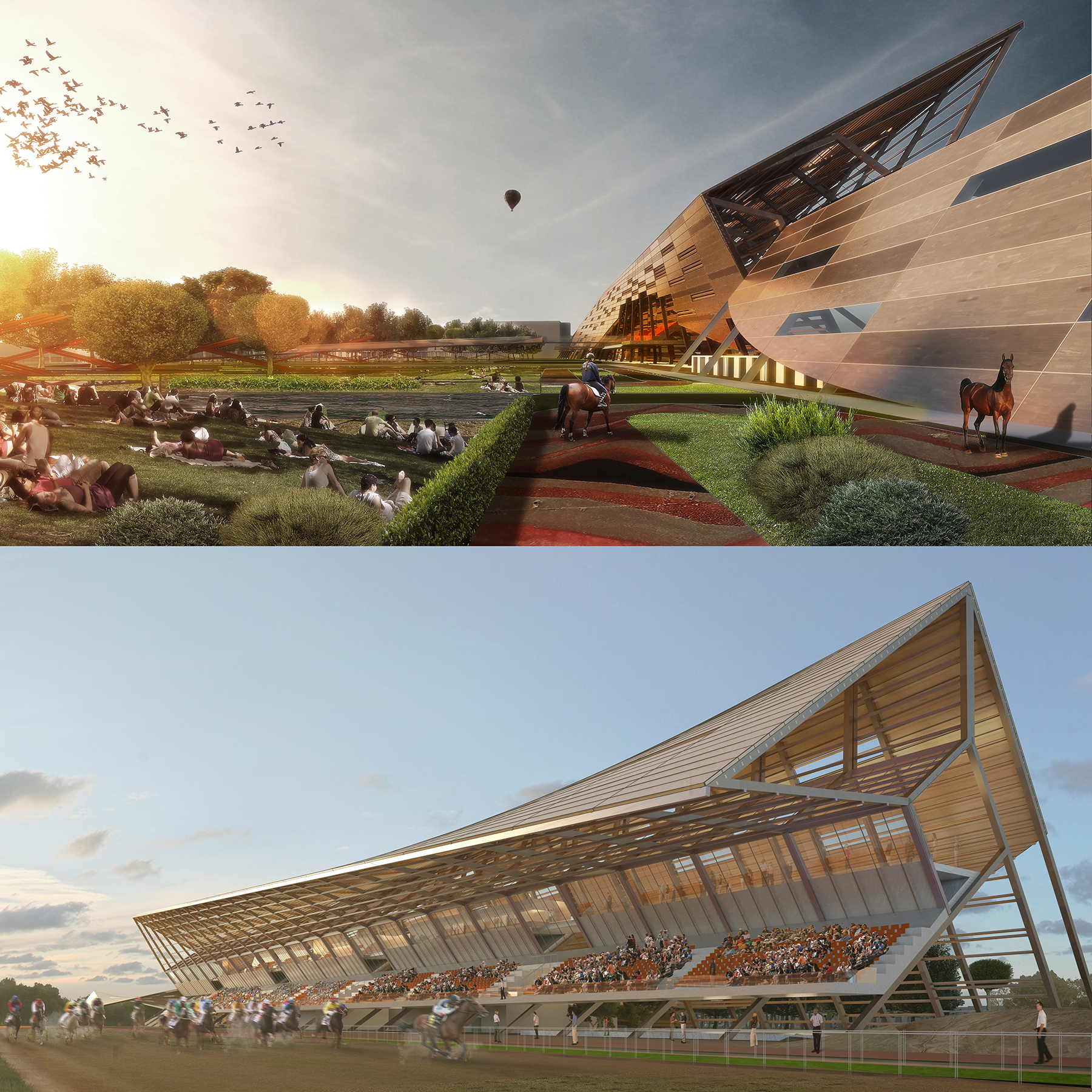 sorec, horse park, horse, grandstand, horse racing, morocco, green, design, aoa, avoidobvious, vicky chan, architect, architecture, sustainable, green, natural, contextual, innovative